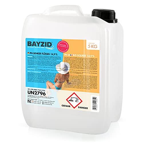 Höfer Chemie 5 kg BAYZID pH Senker Minus 14,9% Pool & Schwimmbad zur Senkung des pH Werts