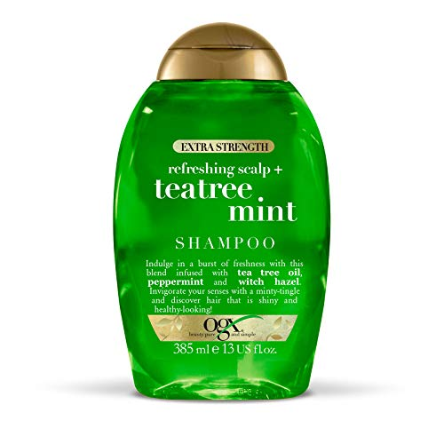 OGX Tea Tree Clarifying Scalp Shampoo for Oily Hair and for Greasy Hair 385 ml Sulfate Free Surfactants