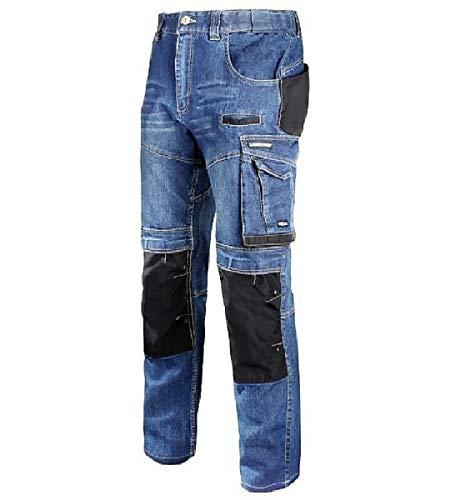LAHTI PRO Arbeitshose L40510 Slim FIT Jeanshose Sicherheitshose Schutzhose Jeans Herrenhose Hose Bundhose Berufshose Herren (XL)