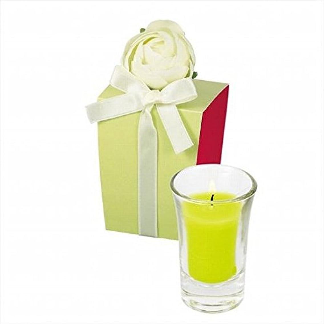 虎植物学特権的kameyama candle(カメヤマキャンドル) ラナンキュラスグラスキャンドル 「 ライトグリーン 」(A9390500LG)