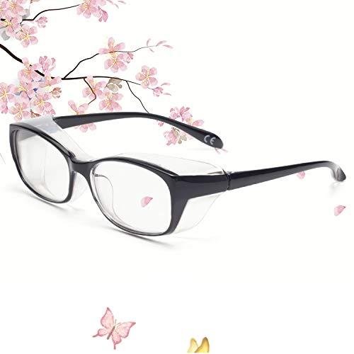 Anti Fog Safety Goggles Protective Glasses,Blue Light Blocking Eyeglasses for Men Women,UV410 Protection (Black)