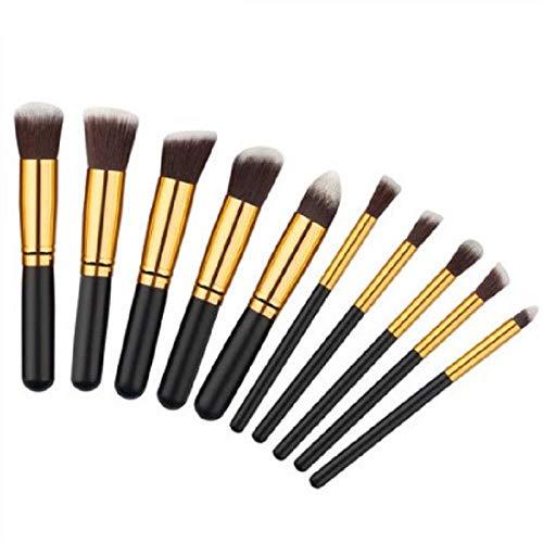 MEISINI Makeup Brush Soft Nature Hair Women Facial Beauty Tools Powder Eyeshadow Blush Kit, Black Gold