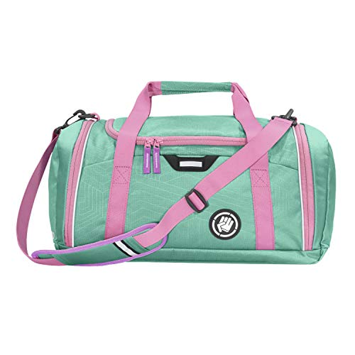 """Coocazoo Sporttasche SporterPorter """"Springman"""", grün, Nasswäschefach, Seitentasche, Schuhfach, Abnehmbarer, Verstellbarer Schultergurt, für Mädchen ab der 5. Klasse, 20 Liter"""