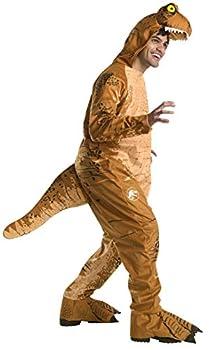 Rubie s Men s Oversized T-Rex Dinosaur Costume Jumpsuit As Shown Extra-Large