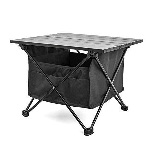 æ— Mesa plegable portátil para camping, ultraligera de aleación de aluminio para barbacoa, mesa de picnic versátil con bolsa debajo de la mesa