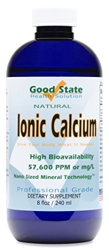 Good State | Ionic Calcium | Natural | Nano Sized Mineral Technology | Professional Grade | Supports Healthy Bones, Tendons & Ligaments | 96 Servings at 400 mg | 8 Fl oz Bottle