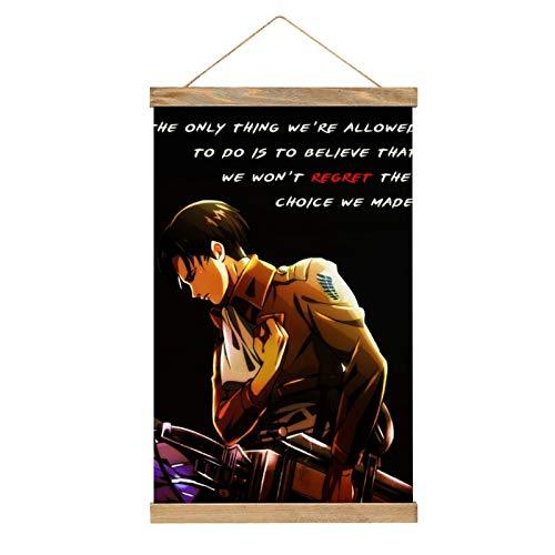 Premium Hanging Poster Attack On Titan Anime Levi Anime Quotes