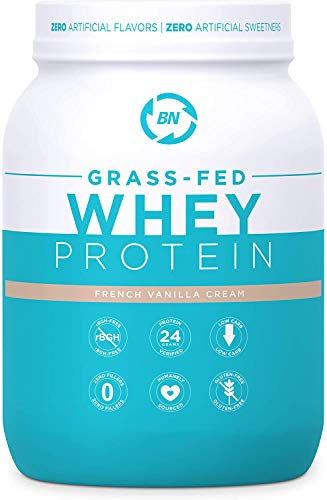 powerful Grass Fed Vanilla Whey Protein 2 lbs – 100% Pure and Natural – 2 lbs / 26 Servings – 24 g Protein – Cold…
