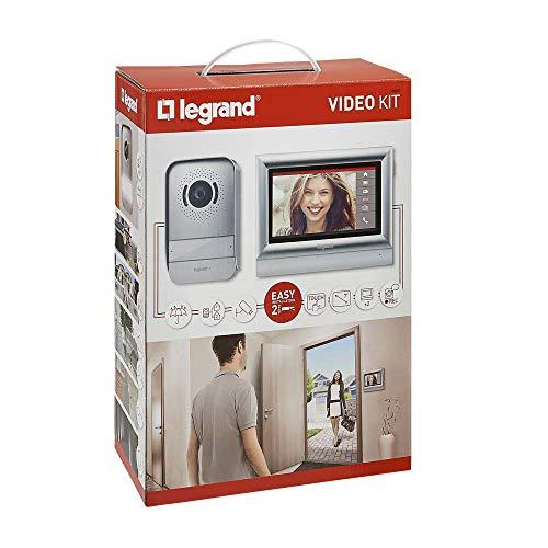 Legrand, Videoportero, 7 pulgadas, Intercomunicación, Buzón Voz, Monitor Color, cámara, Manos libres, IP54, 2 Hilos, cableado, hogar, casa ref 369320