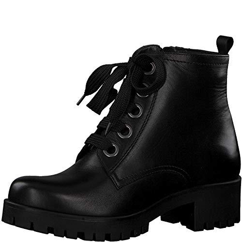 Tamaris Damen Stiefeletten 26720-33, Frauen Schnürstiefelette, Women's Woman Freizeit leger Stiefel Chukka Boot halbstiefel,Black,38 EU / 5 UK