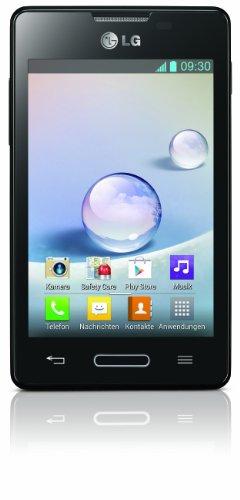 LG E440 Optimus L4 II Smartphone (9,6 cm (3,8 Zoll) Display, 3 Megapixel Kamera, WiFi, Android 4.1) schwarz