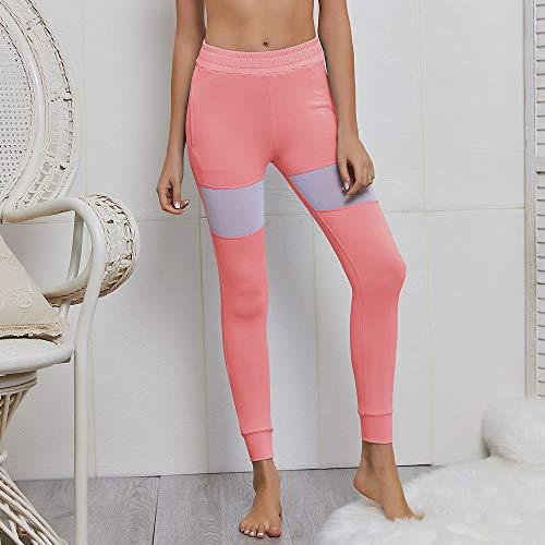 RRUI vrouwen sport panty's Skinny casual yoga track broek mesh stiksels yoga broek sport leggings sport vrouwen lichtblauw S