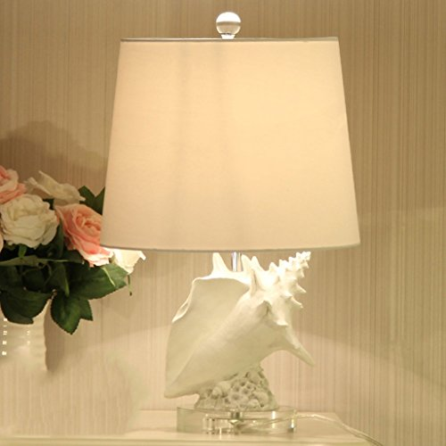 Tischlampe Schlafzimmer Nachttischlampe Wohnzimmer Muschel mediterrane Harz warme Mode europäischen Romantik A+