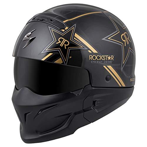 Motocross Helm Schutzbrille Handschuhe Unisex-Adult Leichte ATV Offroad Helm MTB Full Face Crash Helme D.O.T zertifizierter Rockstar