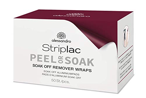 alessandro Striplac Soak Off Remover Wraps - Soak Off Aluminumpads zum Ablösen von Striplac / LED Nagellack, 50 Stück