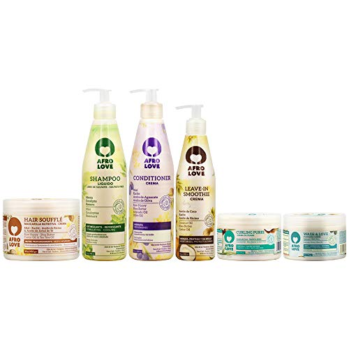 Afro Love All in One Combo (Shampoo & Conditioner & Souffle & Leave-in & Puree & Crème)