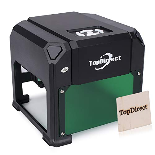 "3000 m W Engraving Machine, TopDirect 3w Mini Desktop Printer Engraver Working Area 7.5 x 7.5 cm(33"") for DIY Logo Marking Wood Carving with CE Approved Certification"