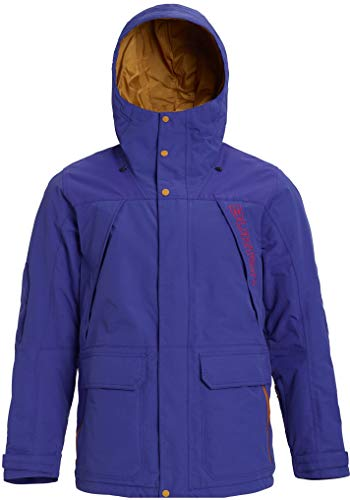 Burton Breach Snowboard Jacket Mens Sz L Royal Blue