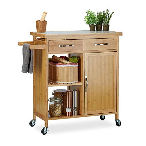 Relaxdays -   Küchenwagen Holz,