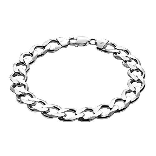 STERLL Pulsera para hombre de plata 925, 21 cm de longitude, con caja de joyas, ideal como regalo de hombre