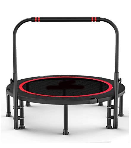 Trampoline Fitness met verstelbare leuning Bar Draagbare Silent Bounce Cardio Workout Indoor Outdoor– Plezier voor volwassenen en kinderen, Max Load 150 lbs