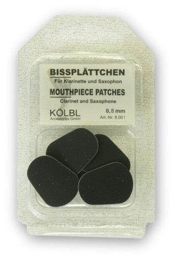 Kölbl Bissplatten 6er Pack B-Klarinette / Saxophon 0,8mm schwarz