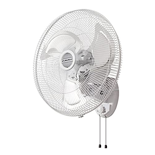 Ventilador Ventilador Eléctrico de Montaje en Pared, Motor DC Potente y Bajo de Energía, Cuchillas de Doble Ventilador, 3 Velocidades, Oscilación de 120 ° para Hogares, Oficinas y Dormitorios, Blanco