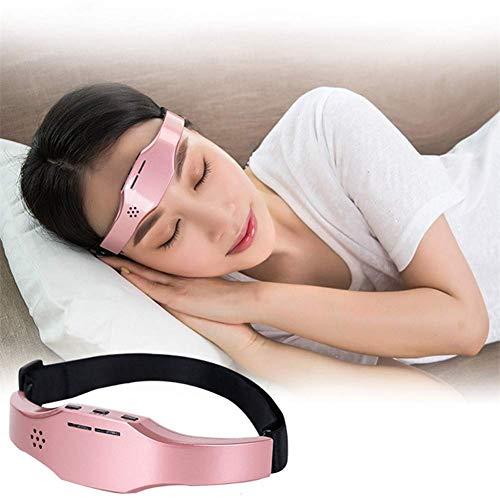 BPQ Elektrischer Pulskopf Pratique Massager Kopfentlastung Physiotherapie Instrument, Angst zu lindern, Schlaflosigkeit, Kopfhaut Massage Tool Relax, Pink