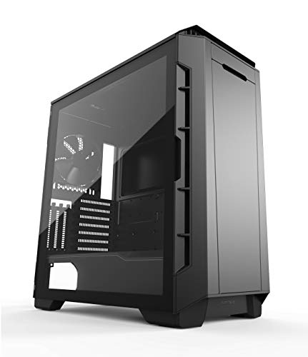 Phanteks Eclipse P600S Hybrid Silent und Performance ATX Chassis – gehärtetes Glas, Stofffilter, Dual-System-Unterstützung, riesiger Speicher, PWM-Hub, schalldämpfende Panels, schwarz