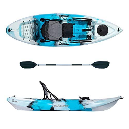 ATLANTIS Kayak-Canoa Iruka - cm 285 - seggiolino - portacanna - pagaia Colore Azzurro