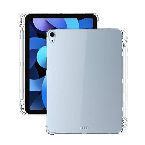 Strimm - Funda protectora para iPad Air de 10,9 pulgadas, transparente y con ranura para bolígrafo
