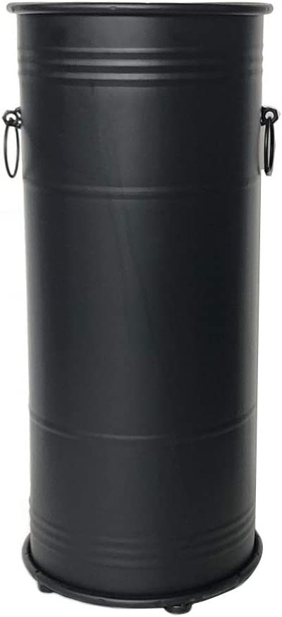JLXJ Industrial Vintage Umbrella Stand Finally popular brand Metal Black Indoor Round Max 67% OFF