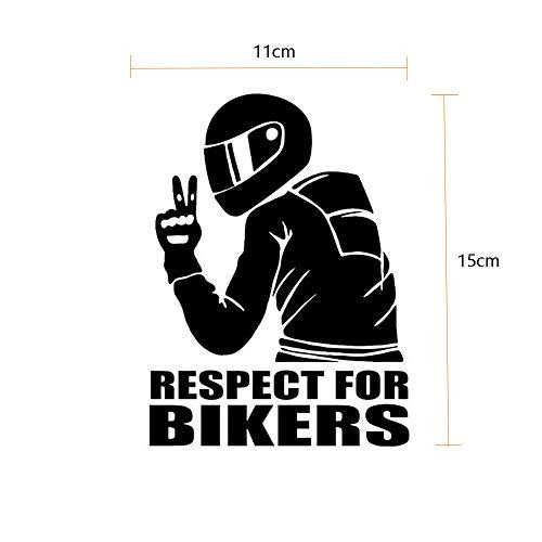 SUPERSTICKI Respect for Bikers Motorradfahrer 15cm Aufkleber,Autoaufkleber,Sticker,Decal,Wandtattoo, aus Hochleistungsfolie,UV&waschanlagenfest,