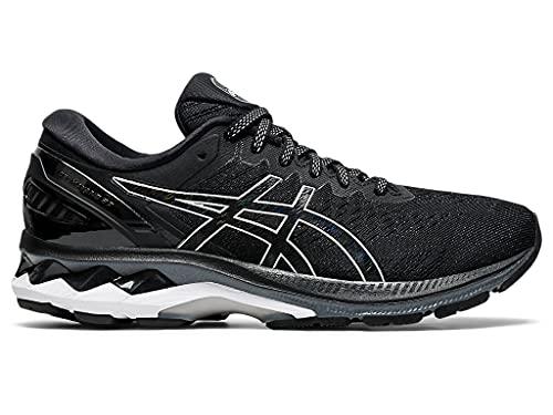 ASICS Women's Gel-Kayano 27 Running Shoes, 9M, Black/Pure Silver
