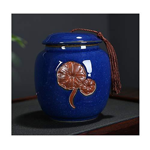 LYP Cremación Urns Urnas de cremación Urnas de cremación Caja de entierro por una pequeña cantidad de Cenizas humanas Material ceramico Bonita decoración en Relieve. Gran Capacidad sellada Pue
