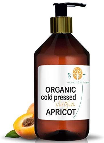Huile de Noyau d'Abricot Organique Pressée à Froid (500 ml)