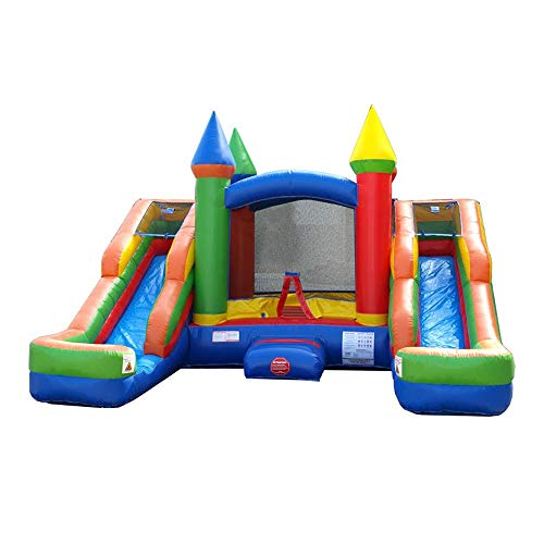 Inflatable Bounce House and Wet / Dry Double Bay Slide