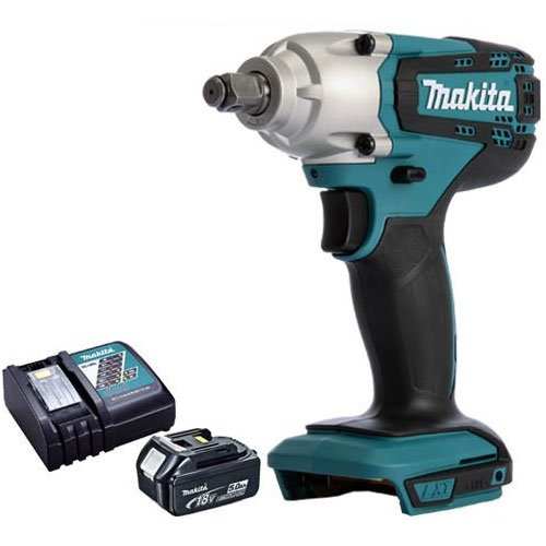 Makita DTW190Z 18V Li-ion 1/2' Square Impact Wrench with 5.0Ah BL1850 Battery & DC18RC Charger