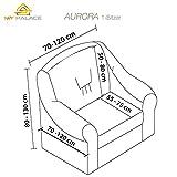 My Palace Aurora Sesselschoner 1 Sitzer Stretch und antirutsch Sesselhusse Fernsehsessel Bezug elastischer Sesselüberwurf mit Schaumstoffankern, 70-120cm Anthrazit - 4