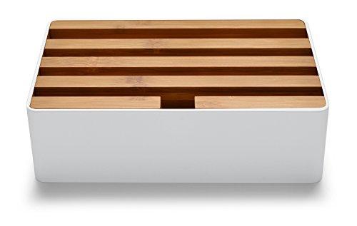 ALLDOCK 3.0 Universal-Ladestation Medium   4-fach-USB-Hub je 2400mA = Gesamtleistung 9600mA   Mixxed   Dittrich Design (Weiss   Bambus Deckel)