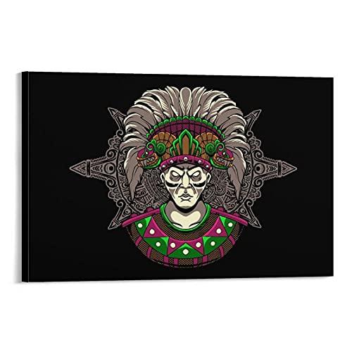 shutian Cuadro de lienzo azteca para pared con diseño moderno de 40 x 60 cm