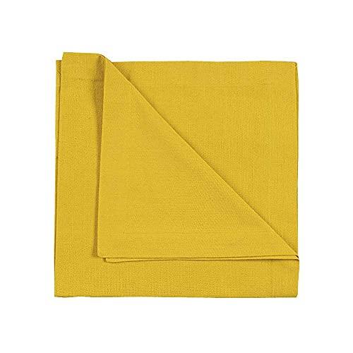 LINUM Robert Lot de 4 Serviettes de Table en Coton, 45 x 45 cm, Jaune Mangue