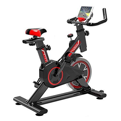 GJQGYY Bicicleta de Spinning, Asiento Ajustable,Bicicleta Fitness de Gimnasio Ejercicio con Volante de Inercia, Sillín Ajustable, para Hogar y Oficina para Ejercitar Piernas Brazos