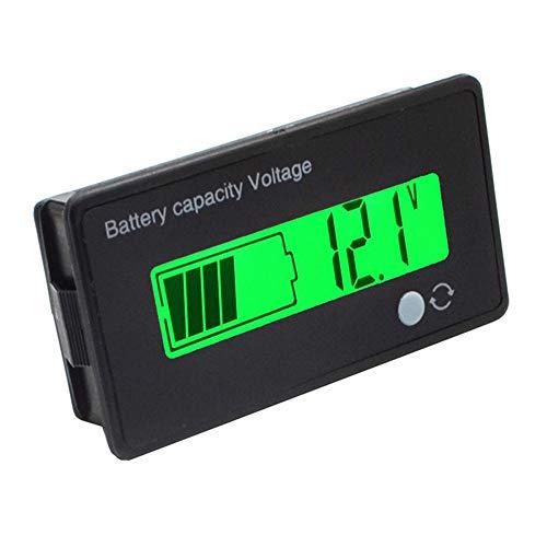 ILS - 12V / 24V Plomo / 36V / 48V 8-70V Ácido LCD Capacidad batería Litio 3,7 V voltímetro indicador Digital