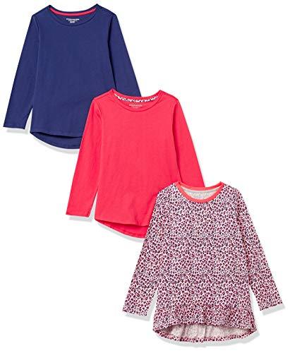 Amazon Essentials Long-Sleeve Cotton Jersey Tunic T-Shirts Fashion, Confezione da 3 Animali, XL