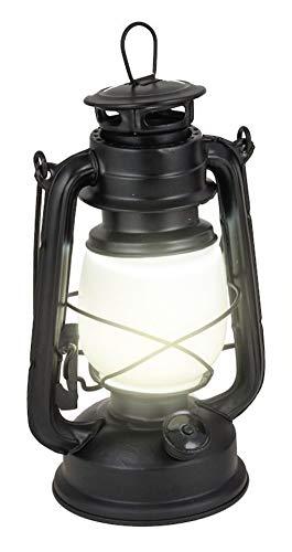 Fountasia batterij aangedreven zwarte orkaan lantaarn metalen tuin ornament