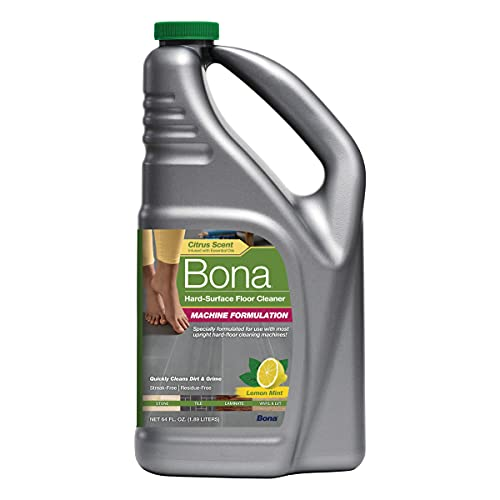 Bona Hard-Surface Floor Cleaner for Stone, Tile, Laminate, and LVT Cleaning Machine Formulation, Concentrate Refill, 64 Fl Oz