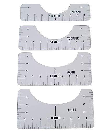 4 Stück Ausrichtungslineal Werkzeug Für T-Shirt, T-Shirt Lineal Guide T-Shirt Lineal Guide Figure T-Shirt Lineal Guide T-Shirt Ausrichtungsanleitung mit Führungswerkzeug für Modedesign
