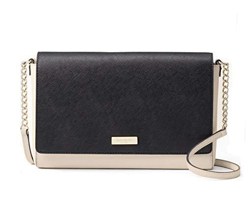 Kate Spade New York Saffiano Charlotte Street Alek Crossbody Bag (Soft porcelain/black)