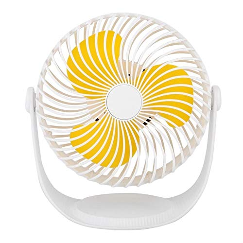 Mini ventilador de escritorio portátil ventilador Mini ventilador de escritorio USB con ángulo ajustable de rotación 360 for ventilador de enfriamiento personal de oficina ( Color : Yellow )